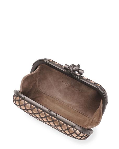 Metal Cage Knot Clutch Bag, Brown/Black
