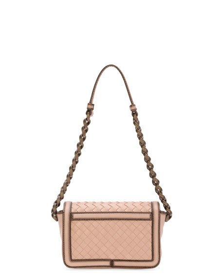 70bfc7f8382c Bottega Veneta Woven Chain-Strap Crossbody Bag