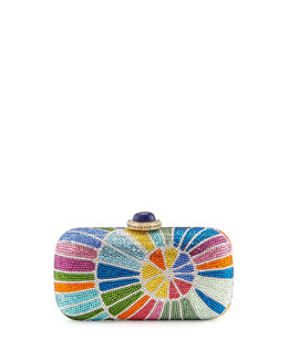 Judith Leiber Couture Spinnaker Crystal Clutch Bag