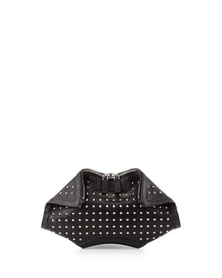 De-Manta City Stud Small Clutch Bag, Black