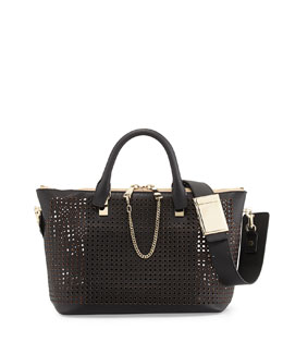 Chloe Baylee Perforated Medium Shoulder Bag, Black