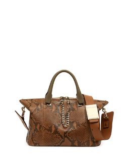 Chloe Baylee Python Medium Shoulder Bag, Brown