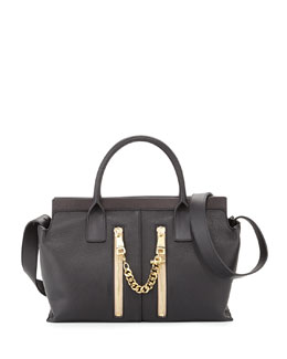Chloe Cate Perforated Medium Shoulder Bag, Black