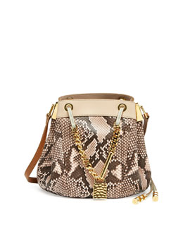 Chloe Camille Small Python Crossbody Bag, Pink