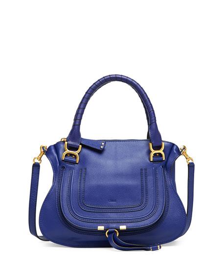 Marcie Medium Satchel Bag, Blue