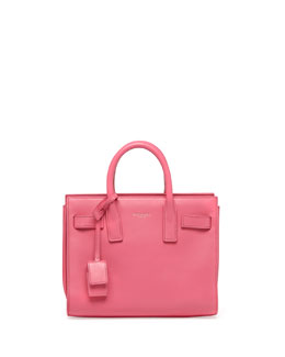 Saint Laurent Sac de Jour Mini Crossbody Bag, Pink