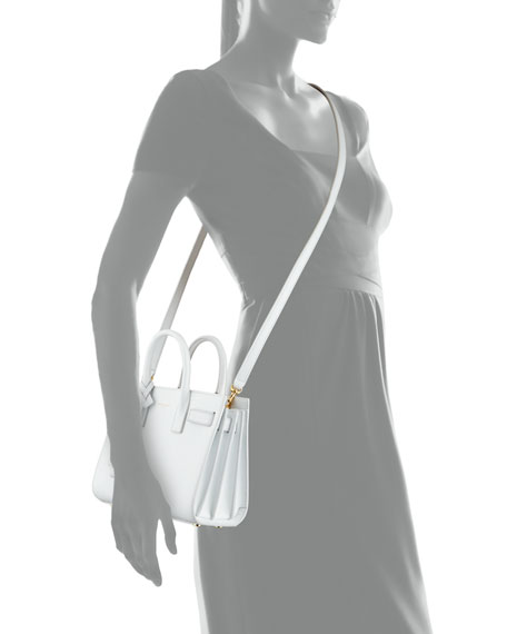 Sac de Jour Nano Crossbody Bag, White