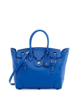 Ralph Lauren Soft Ricky 33 Medium Soft Calfskin Satchel Bag, Royal