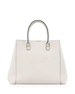 Victoria Beckham Liberty Structured Large Tote Bag, White