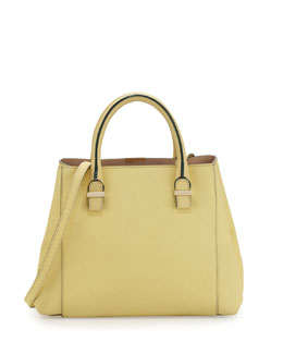 Victoria Beckham Liberty Small Leather Shopper Tote Bag, Yellow