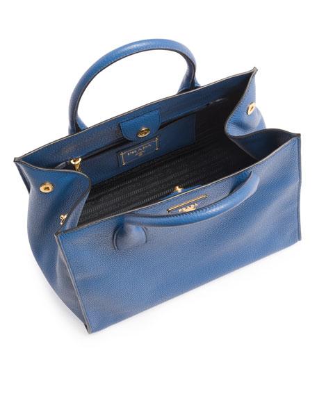 Daino Soft Triple-Pocket Tote Bag, Blue (Cobalto)