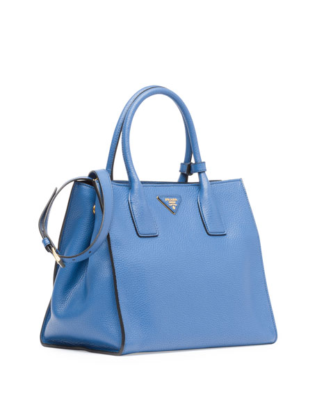 Daino Soft Triple-Pocket Tote Bag, Blue (Cobalto)