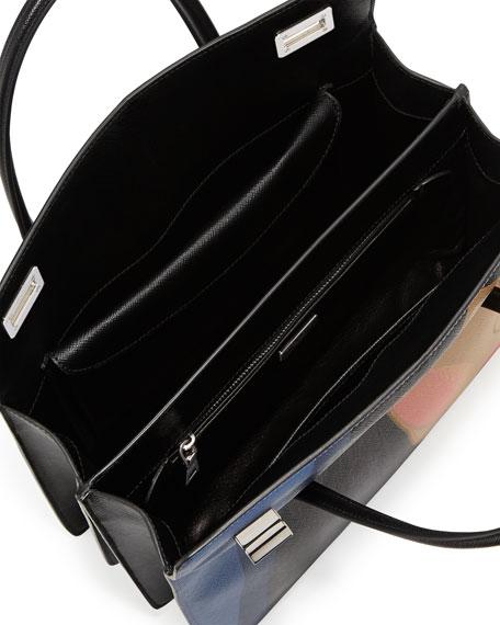 light blue prada handbag - prada face-printed saffiano shoulder bag, pink prada handbag leather
