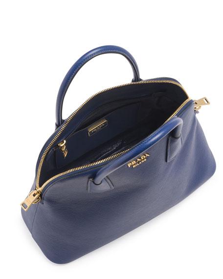 prada wristlet purse - Prada Saffiano Cuir Large Dome Satchel Bag, Blue (Bluette)
