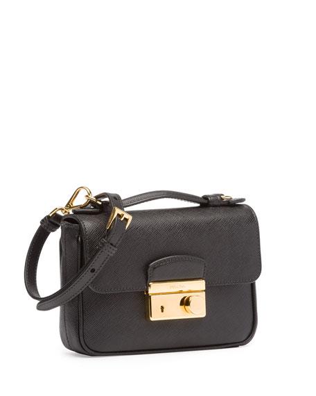 e19d0ad77fc3 Prada Saffiano Mini Sound Crossbody Bag, Black (Nero)