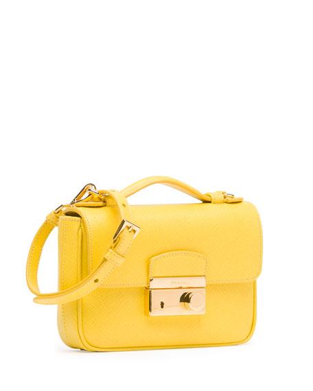 prada bag discount - Prada Saffiano Mini Sound Crossbody Bag, Yellow (Girasole)