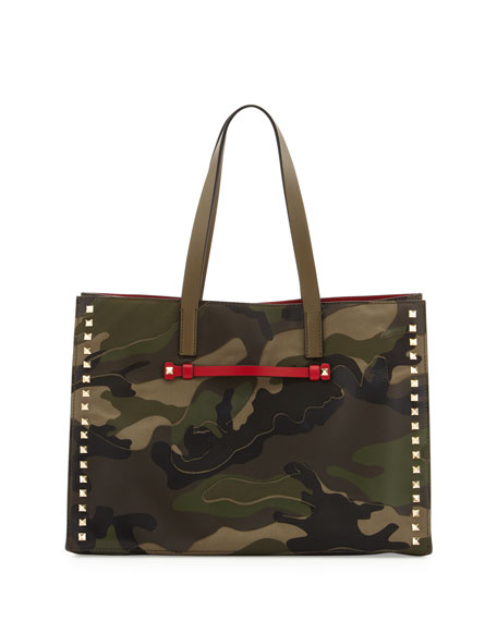 Camouflage Medium Soft Square Tote Bag