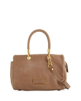 MARC by Marc Jacobs Too Hot to Handle Zip Satchel Bag, Praline