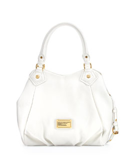 MARC by Marc Jacobs Classic Q Fran Satchel Bag, White Birch
