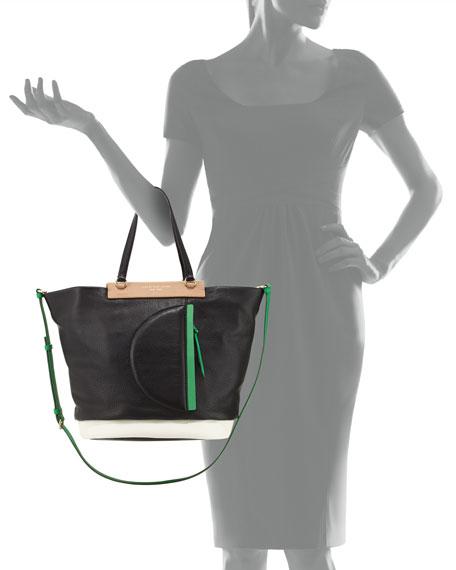 Round the Way Girl Tote Bag, Black Multi