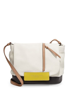 MARC by Marc Jacobs Round the Way Girl Messenger Bag, Swan White Multi