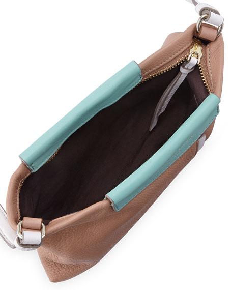 Round the Way Girl Percy Crossbody Bag, Buff Sand Multi