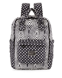 MARC by Marc Jacobs Pretty Nylon Knapsack, Black Multi