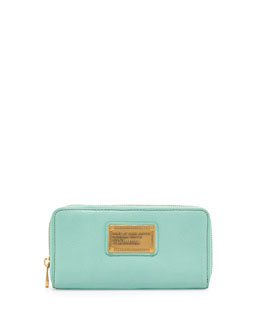 MARC by Marc Jacobs Classic Q Vertical Zip Wallet, Minty