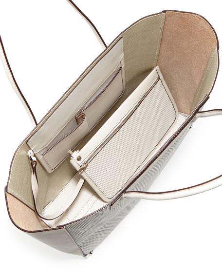 Prisma 3D Leather-Mesh Tote Bag, Cellophane