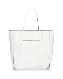 Alexander Wang Prisma 3D Leather-Mesh Tote Bag, Cellophane