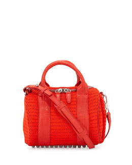 Alexander Wang Rockie Mesh Small Crossbody Bag, Cola