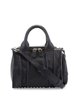 Alexander Wang Inside-Out Rockie Small Crossbody Satchel, Ink