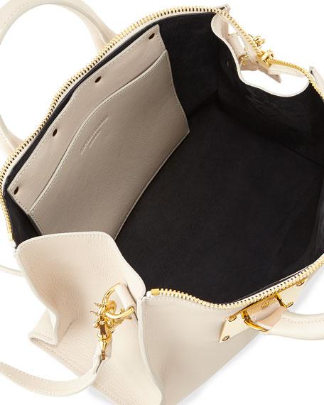 Mini Zip Top Bowling Bag, Stone