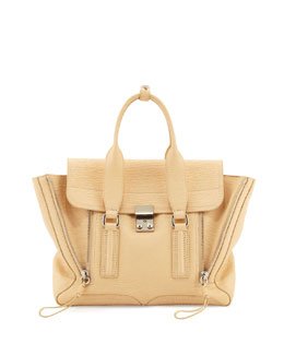 3.1 Phillip Lim Pashli Medium Zip Satchel Bag, Buff