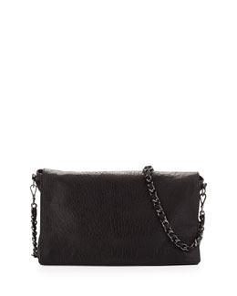 Alice + Olivia Scarlet Crossbody Leather Satchel Bag, Black