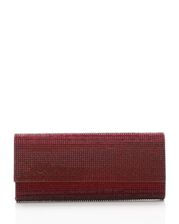 Judith Leiber Couture Ritz Fizz Crystal Clutch Bag, Silver Crimson