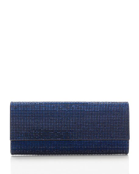 Ritz Fizz Crystal Clutch Bag, Silver Dark Indigo
