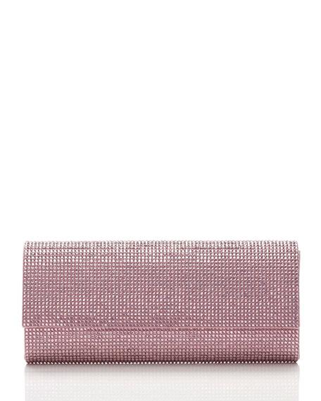 Ritz Fizz Crystal Clutch Bag, Silver Light Rose