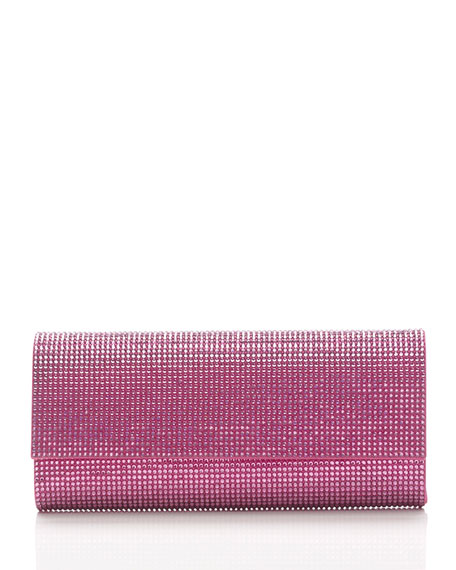 Ritz Fizz Crystal Clutch Bag, Silver Rose