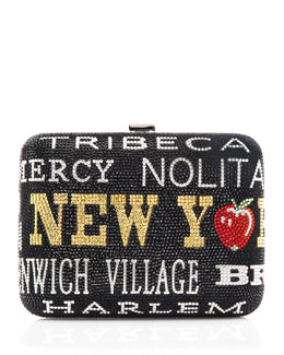 Judith Leiber Couture New York, New York Slim Rectangle Clutch Bag, Jet Multi