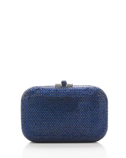 Judith Leiber Couture Crystal Slide-Lock Clutch Bag, Dark Indigo