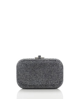 Judith Leiber Couture Crystal Slide-Lock Clutch Bag, Hematite