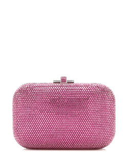 Judith Leiber Couture Crystal Slide-Lock Clutch Bag, Rose