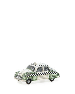 Judith Leiber Couture Hey Cabbie! Crystal Taxi Cab Pillbox