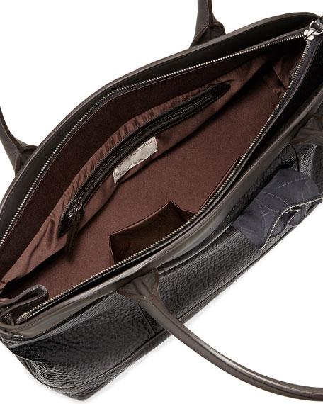 Calfskin East-West Satchel Bag, Black