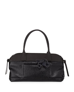 Brunello Cucinelli Calfskin East-West Satchel Bag, Black