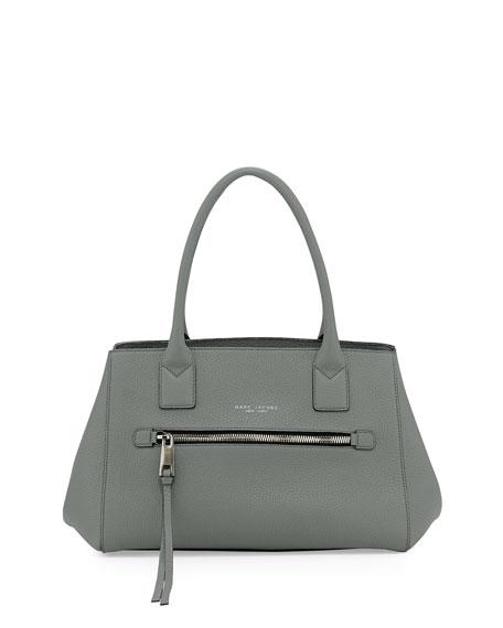 Not So Big Apple Tote Bag, Gray-Green
