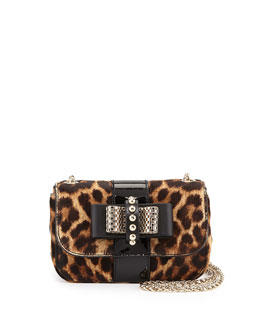 Sweet Charity Leopard-Print Calf Hair Mini Shoulder Bag
