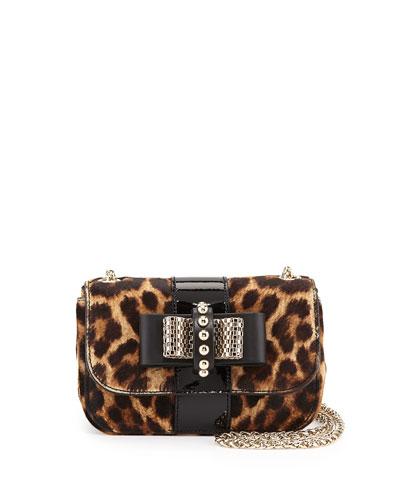 Sweet Charity Leopard-Print Calf Hair Mini Shoulder Bag