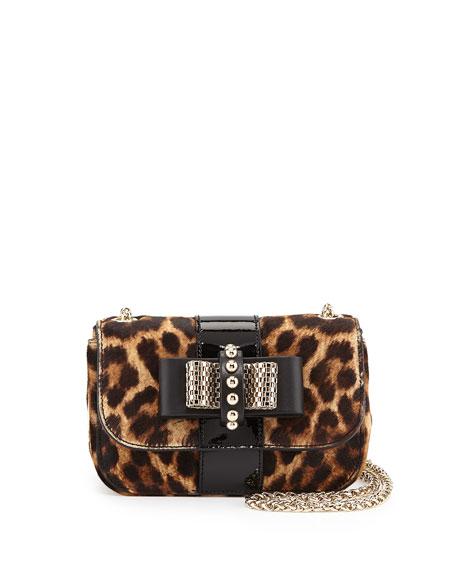 dbd0d0b07190 Christian Louboutin Sweet Charity Leopard-Print Calf Hair Mini Shoulder Bag
